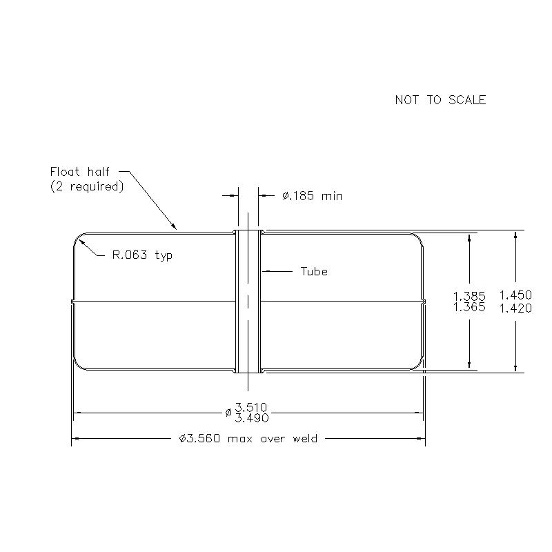51300 Center Tube W/O Magnet 1.375 (H)