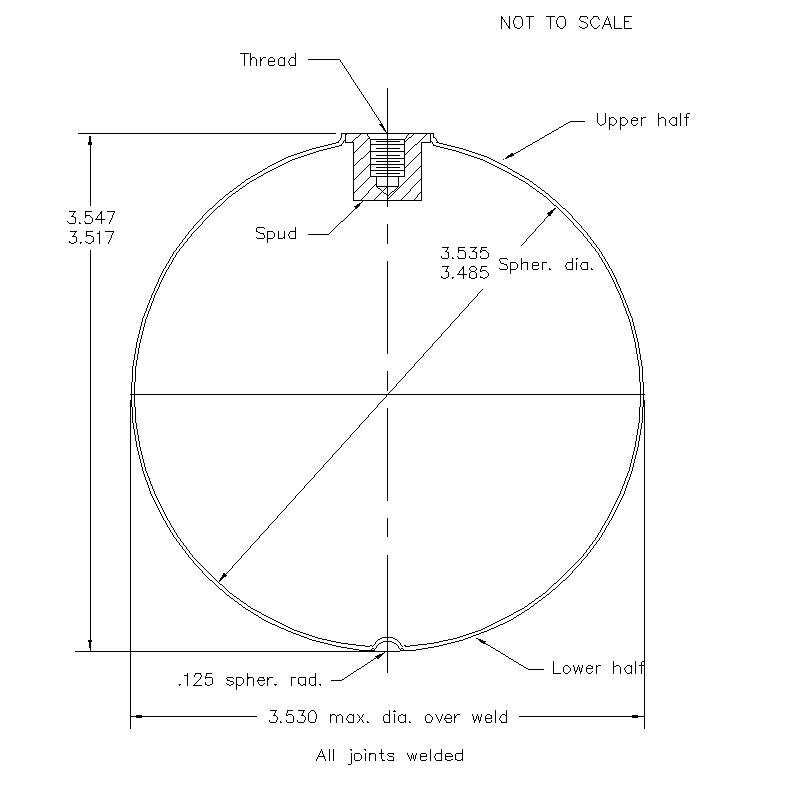 51400 Female Thread 3.532 (H) Butt Weld