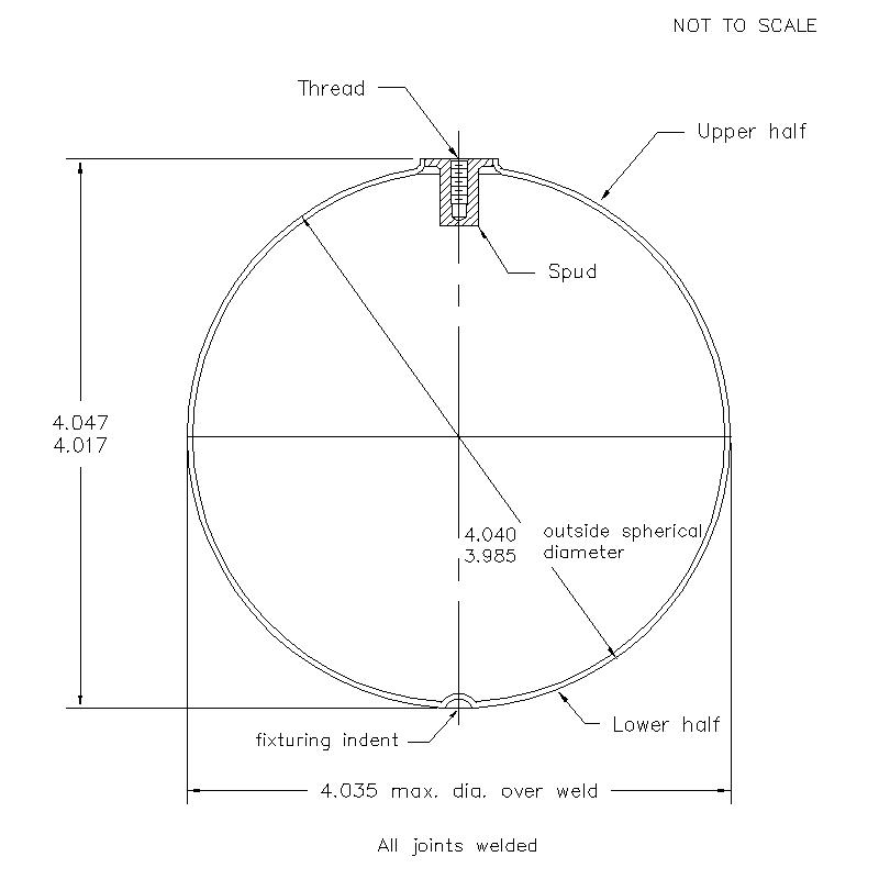 51500 Female Thread 4.032 (H) Butt Weld