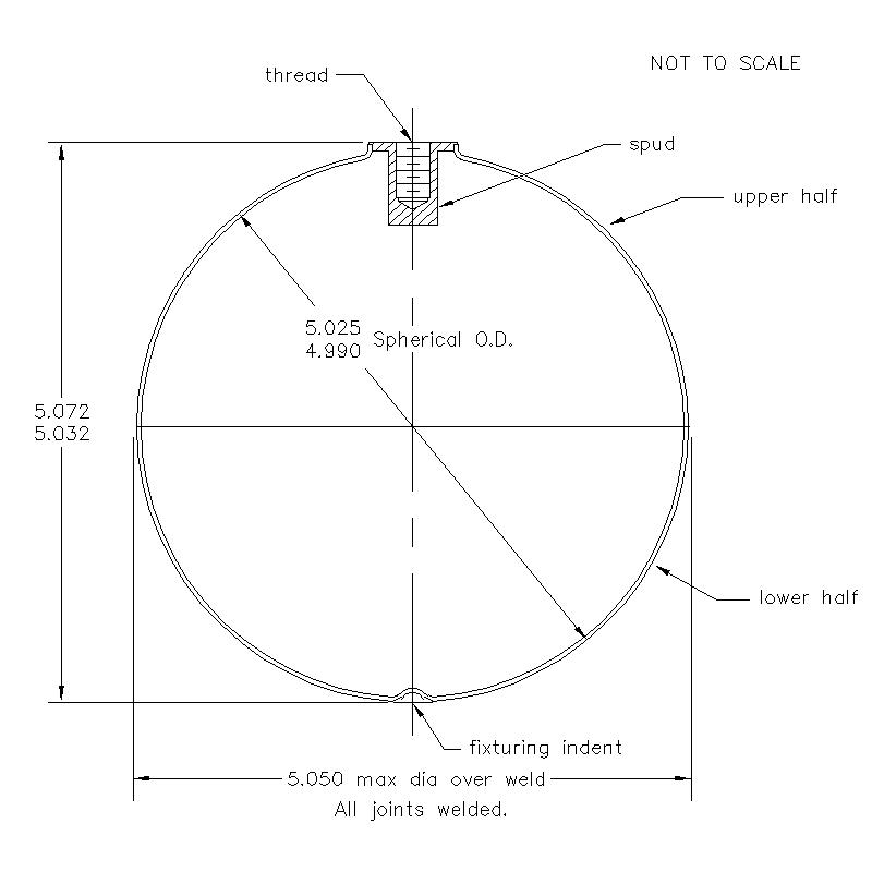 51900 Female Thread 5.052 (H) Butt Weld