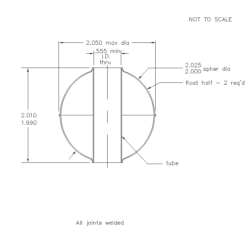 52200 Center Tube W/O Magnet 2.00 (H)
