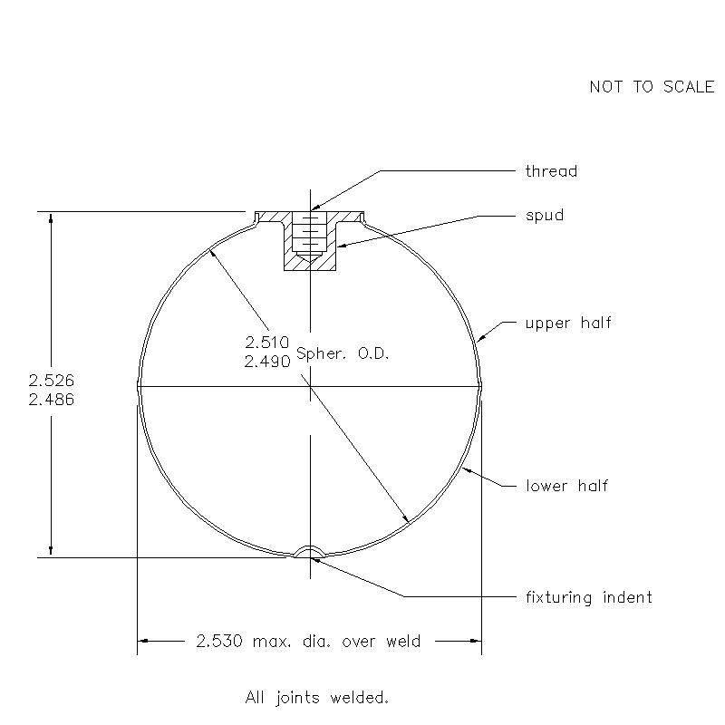 52600 Female Thread 2.506 (H) Butt Weld