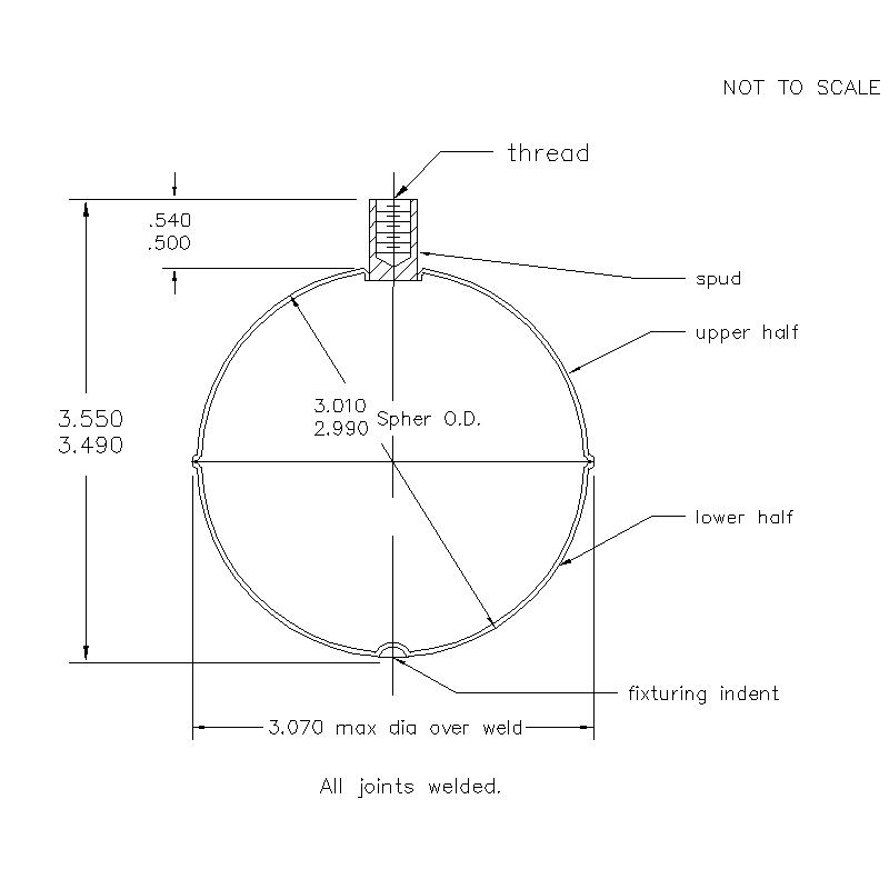 52700 Female Thread 3.52 (H) Flange Weld