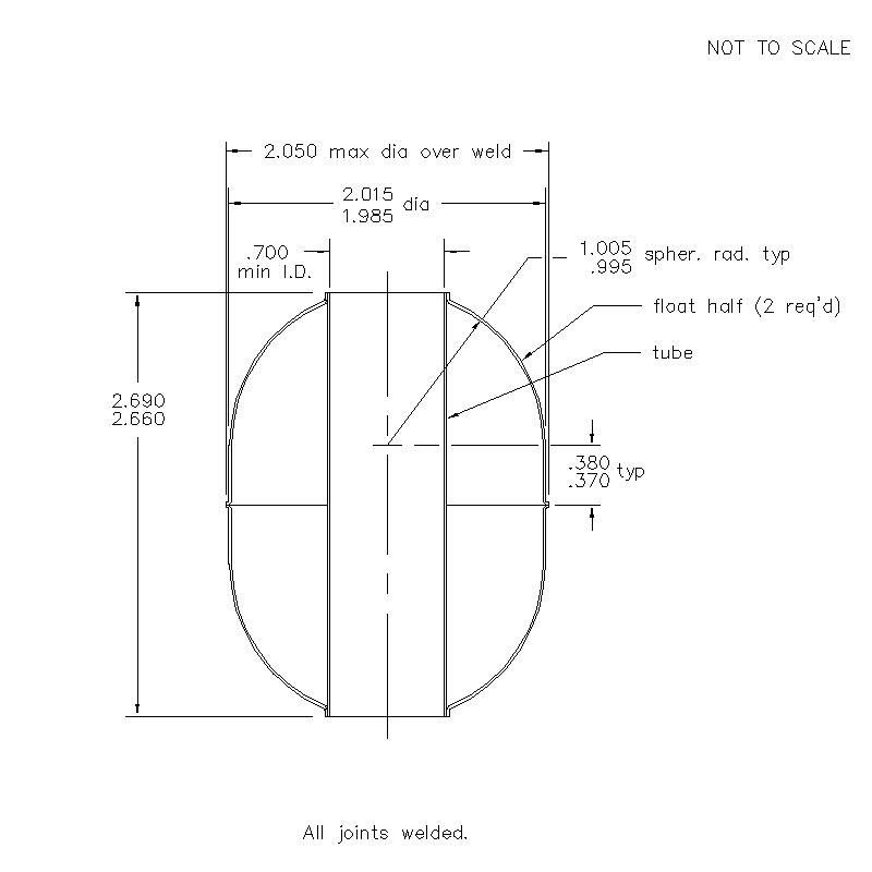 53300 Center Tube W/O Magnet 2.675 (H)