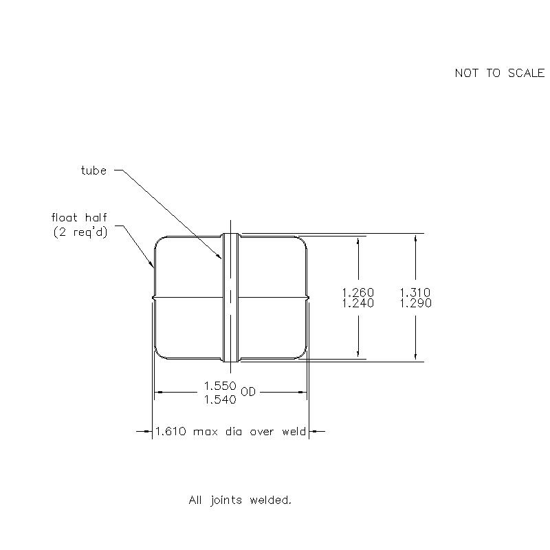 53800 Center Tube W/O Magnet 1.250 (H)