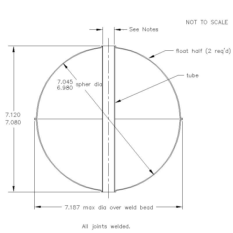 55400 Center Tube W/O Magnet 7.100 (H)