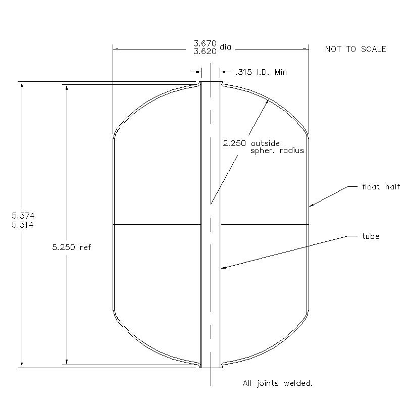 55500 Center Tube W/O Magnet 5.344 (H)