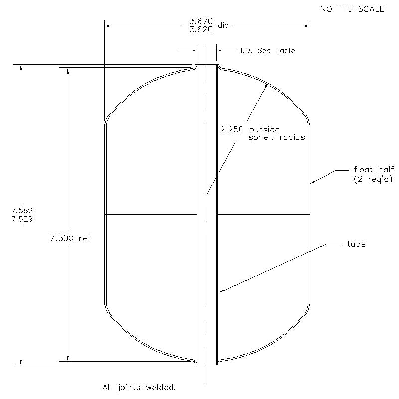 55500 Center Tube W/O Magnet 7.559 (H)
