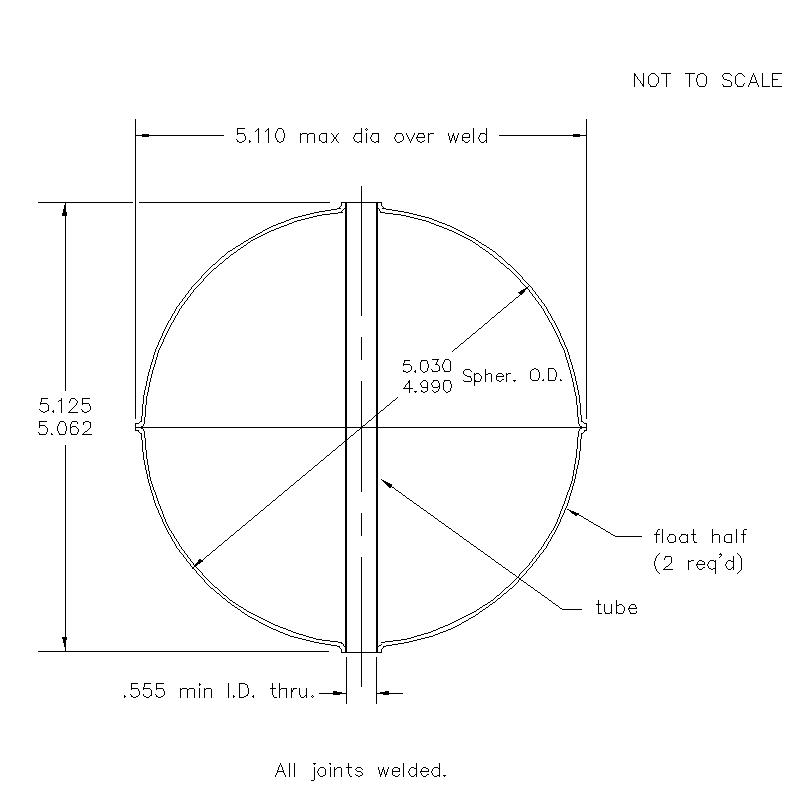55700 Center Tube W/O Magnet 5.093 (H)