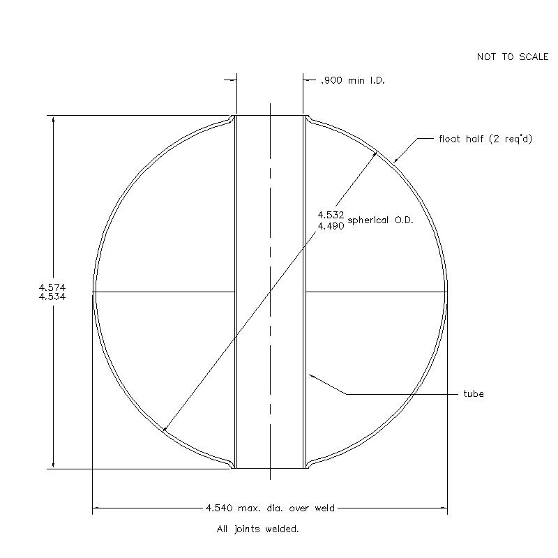 56300 Center Tube W/O Magnet 4.554 (H)