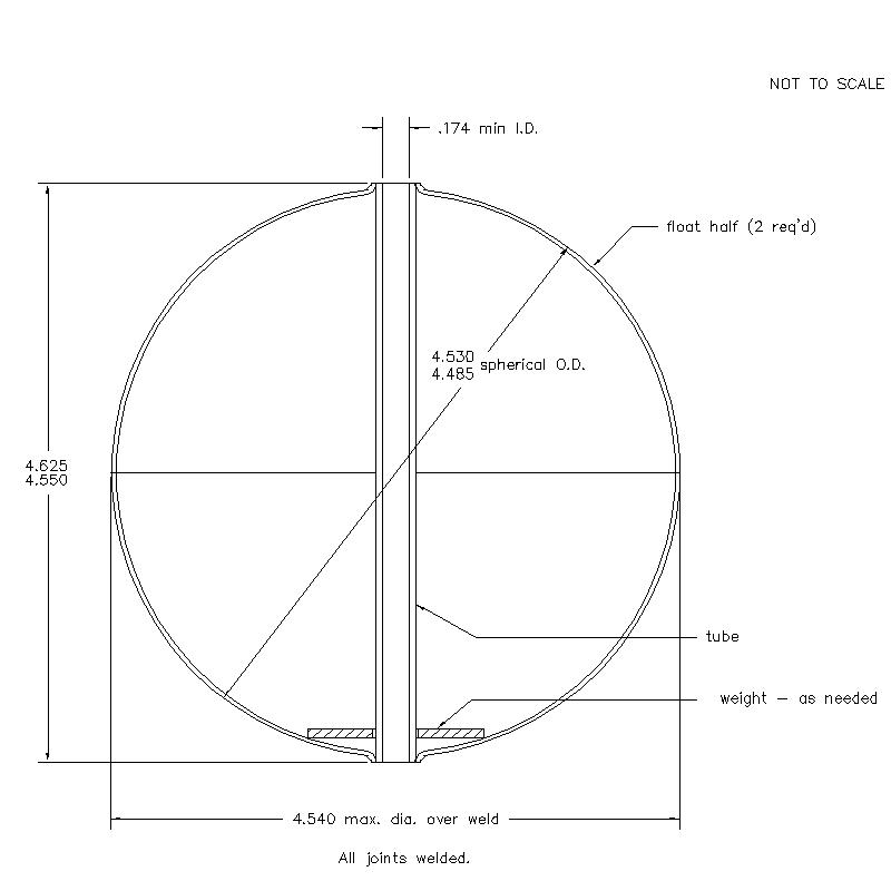 56300 Center Tube W/O Magnet 4.588 (H)
