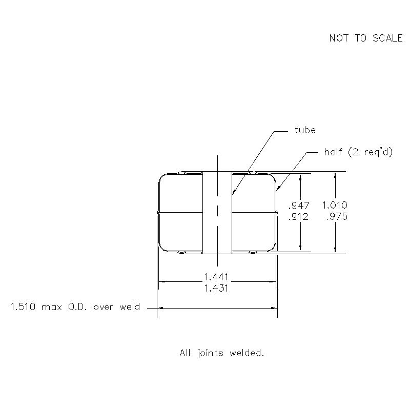 56500 Center Tube W/O Magnet .937 (H)