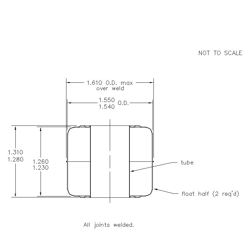 56900 Center Tube W/O Magnet 1.295 (H)