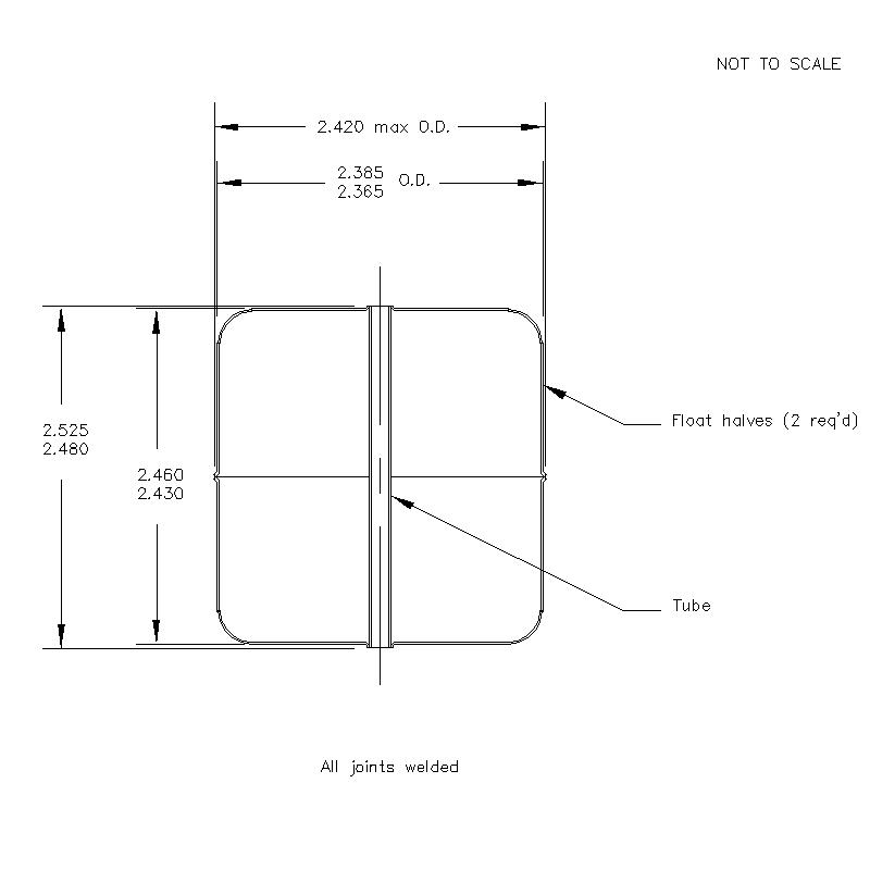 57000 Center Tube W/O Magnet 2.503 (H)